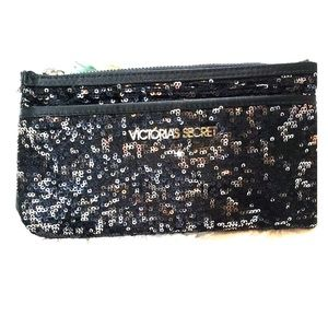 Victoria Secret  Black Sequence  Clutch